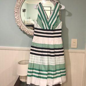 Kay Unger striped sleeveless dress